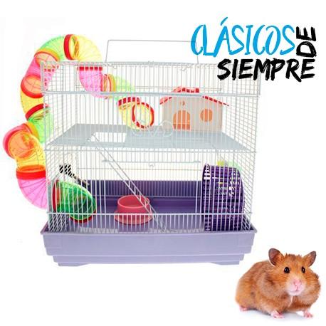 Jaula clásica 2 niveles con hamsters